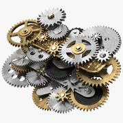 Clockwork Gear Mechanism Mixed 3d model