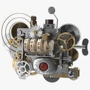 Clockwork Gear with Counter Mechanism Mixed 3d model