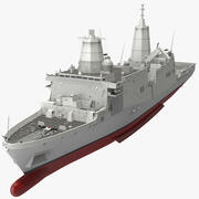 Док-амфибия класса Сан-Антонио 3d model