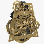 Clockwork Gears Mosiądz 3d model