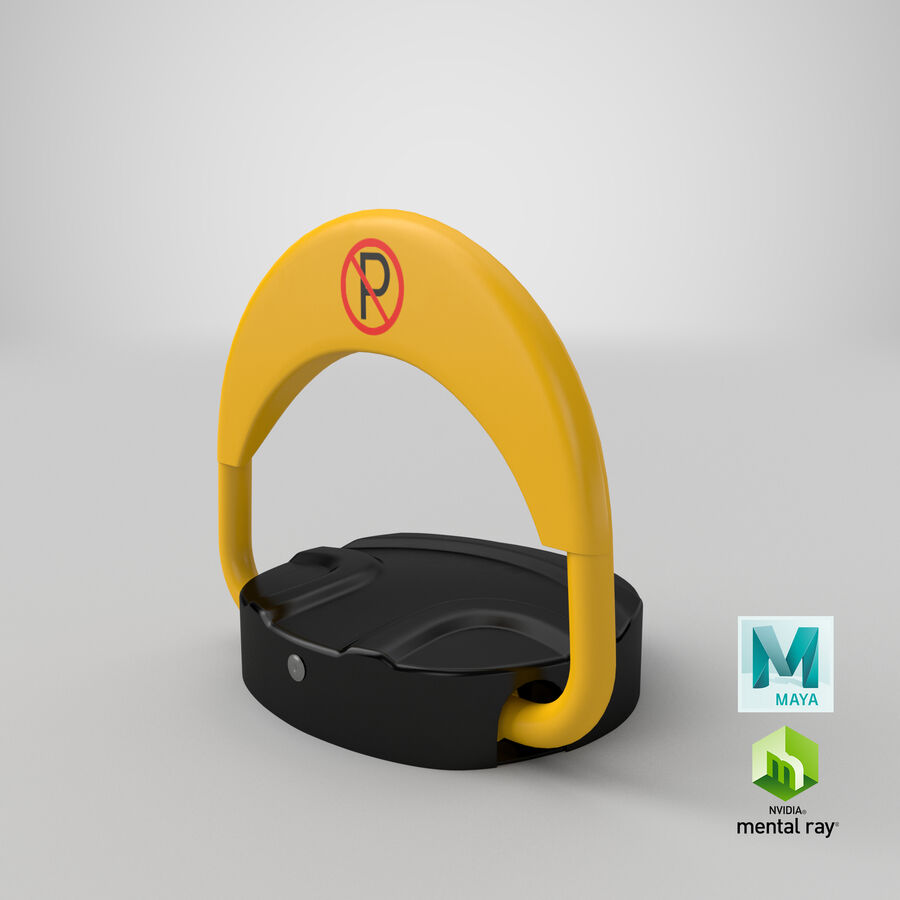 Remote Control Parking Lock Barrier royalty-free 3d model - Preview no. 9