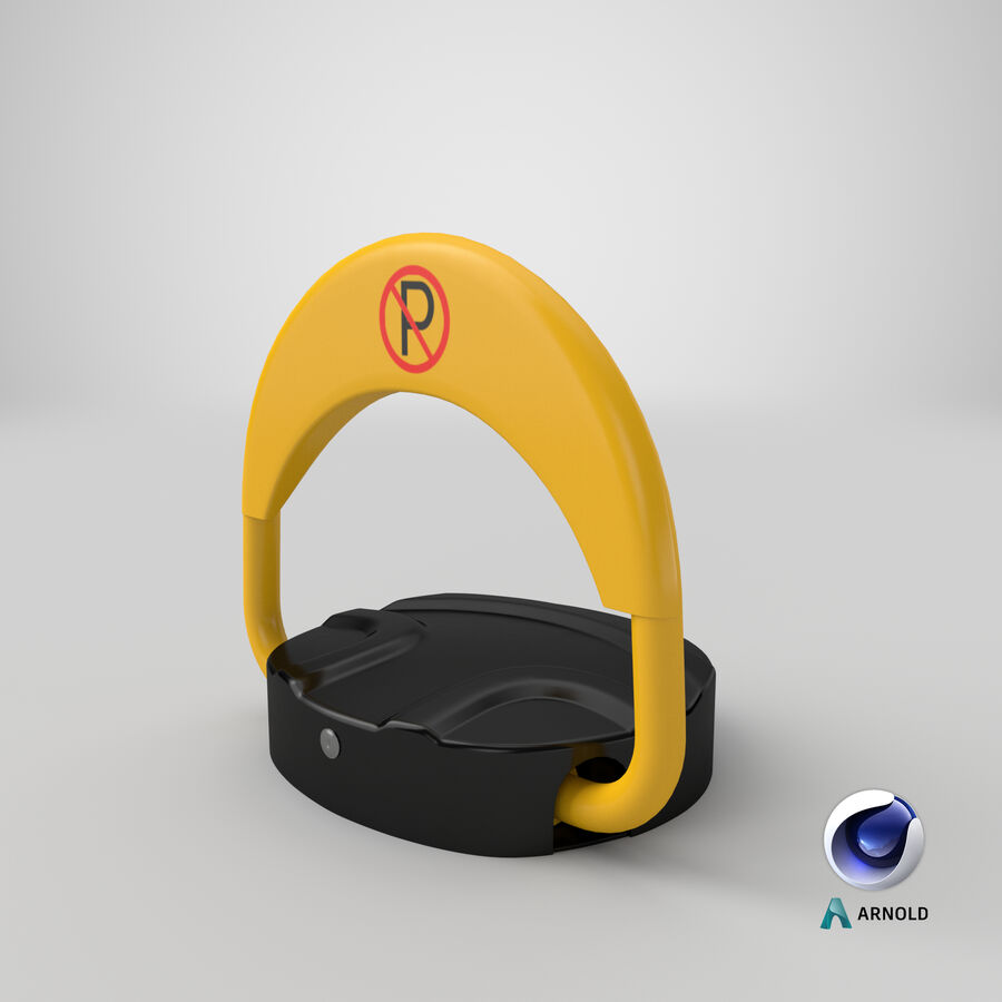 Remote Control Parking Lock Barrier royalty-free 3d model - Preview no. 2