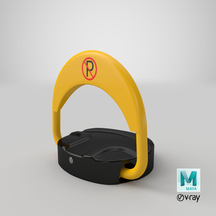 Remote Control Parking Lock Barrier royalty-free 3d model - Preview no. 10