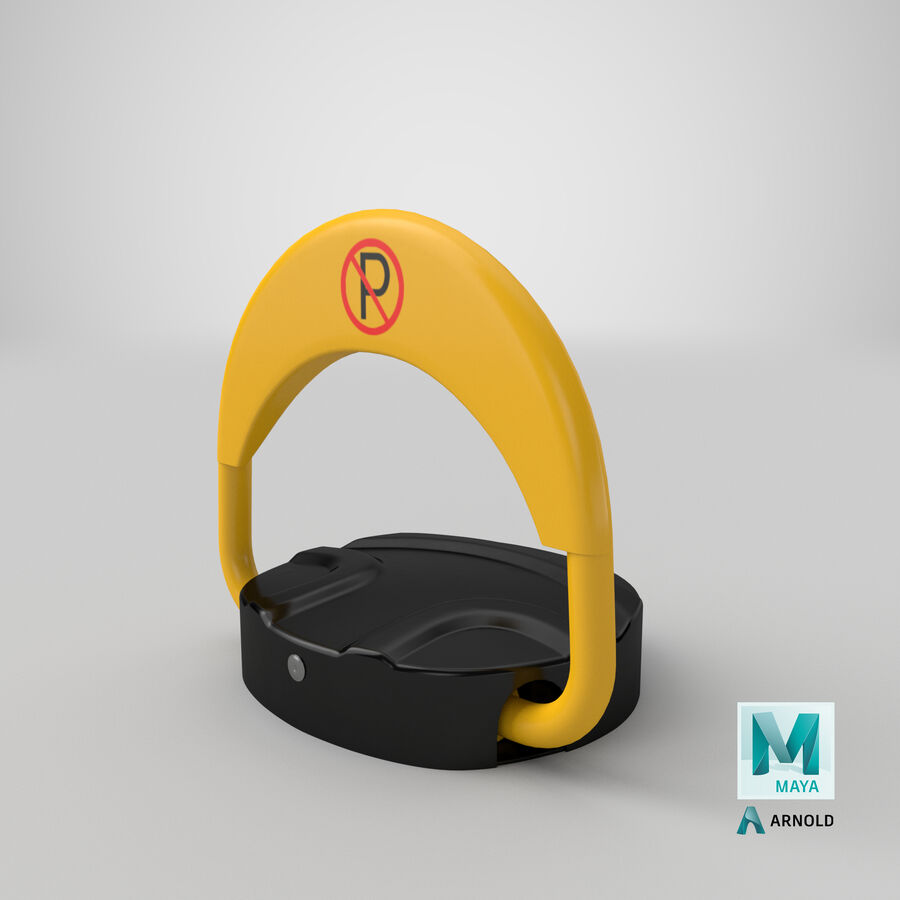 Remote Control Parking Lock Barrier royalty-free 3d model - Preview no. 8