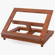 折叠木书架 3d model