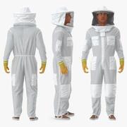 Человек в костюме пчеловода, приспособленный для Modo 3d model