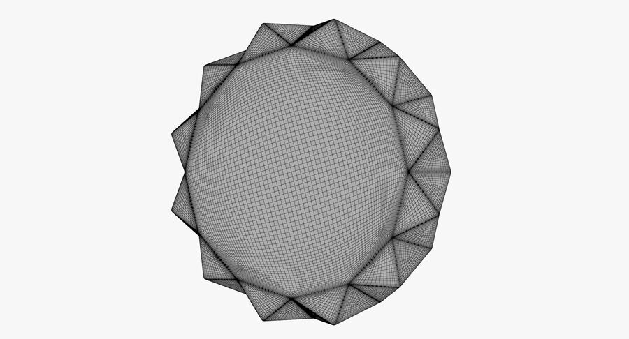 Karlsson Origami Wall Clock royalty-free 3d model - Preview no. 11