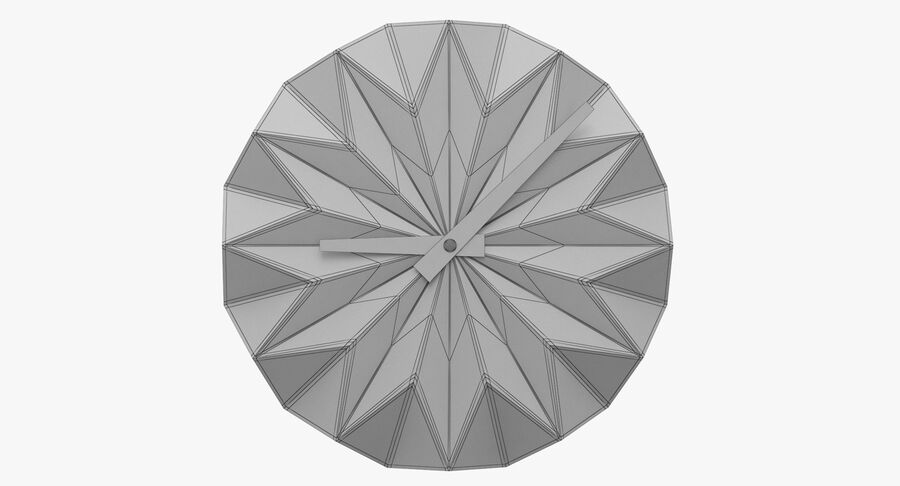 Karlsson Origami Wall Clock royalty-free 3d model - Preview no. 8