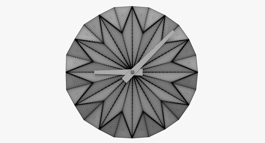 Karlsson Origami Wall Clock royalty-free 3d model - Preview no. 9