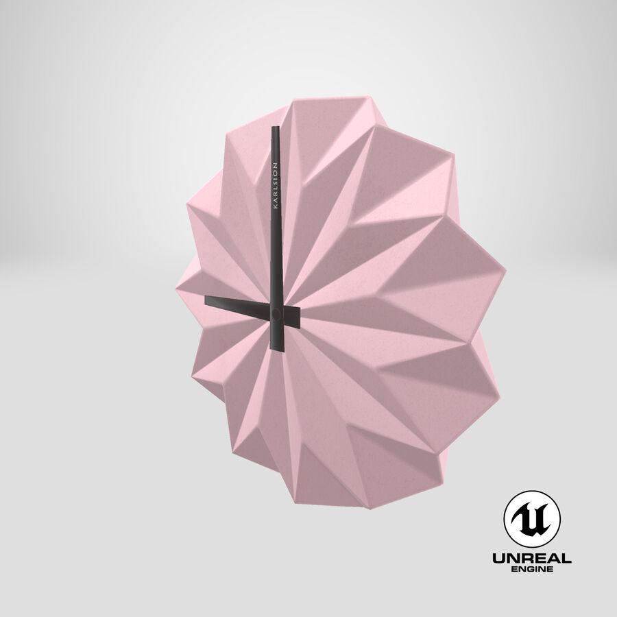 Karlsson Origami Wall Clock royalty-free 3d model - Preview no. 17