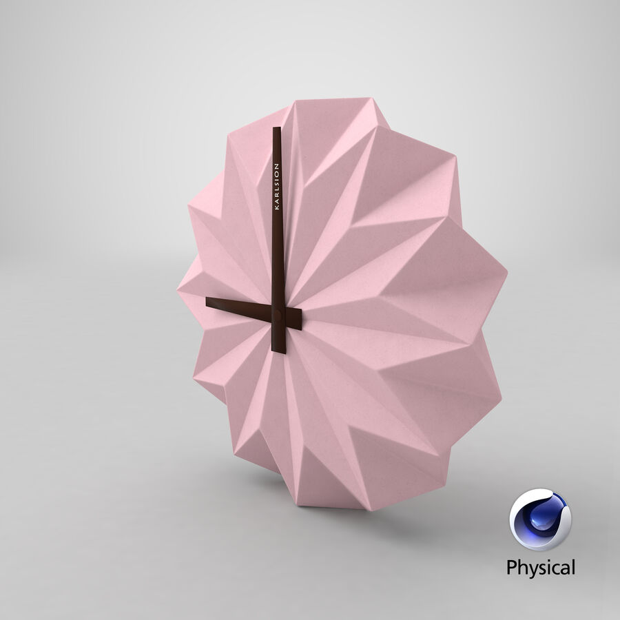 Karlsson Origami Wall Clock royalty-free 3d model - Preview no. 19