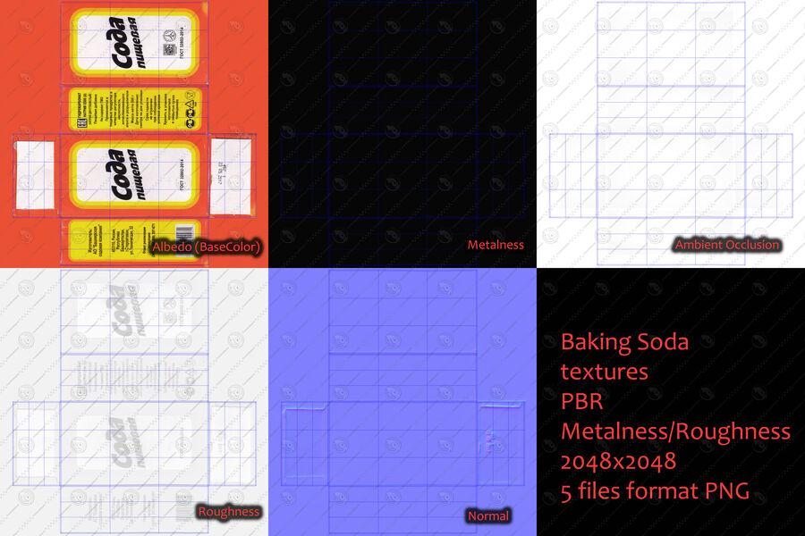 Baking Soda royalty-free 3d model - Preview no. 15
