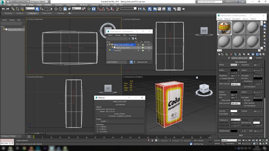 Baking Soda royalty-free 3d model - Preview no. 16