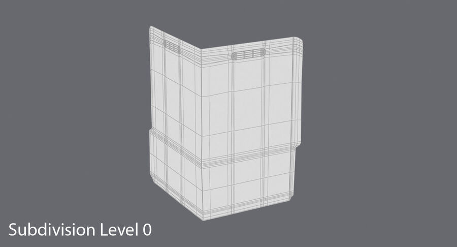 Legal Folder 02 Open royalty-free 3d model - Preview no. 15