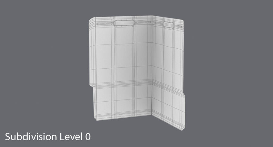 Legal Folder 02 Open royalty-free 3d model - Preview no. 13