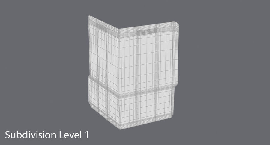 Legal Folder 02 Open royalty-free 3d model - Preview no. 18