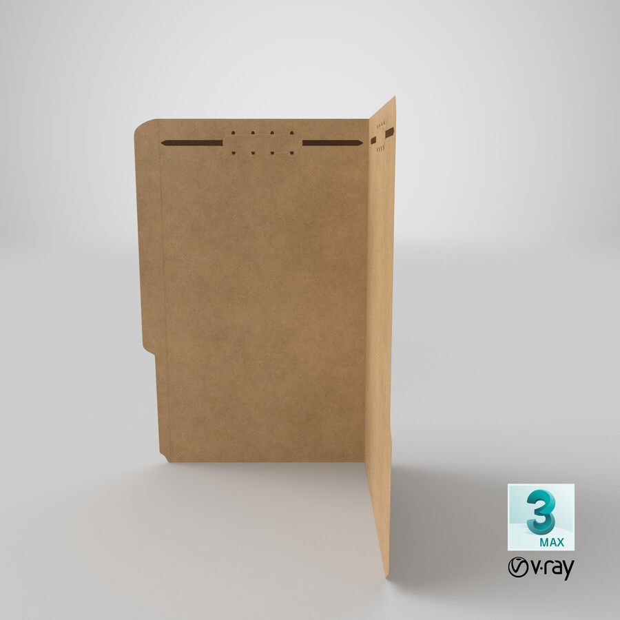 Legal Folder 02 Open royalty-free 3d model - Preview no. 22