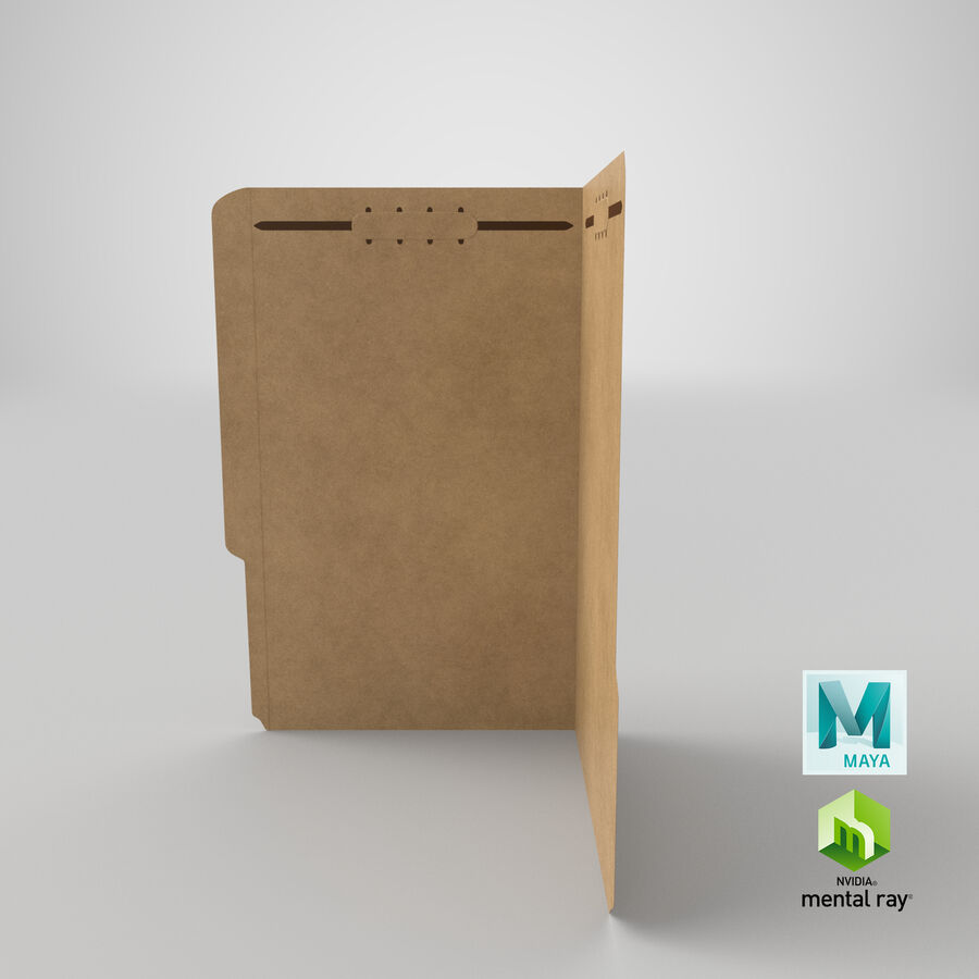 Legal Folder 02 Open royalty-free 3d model - Preview no. 21