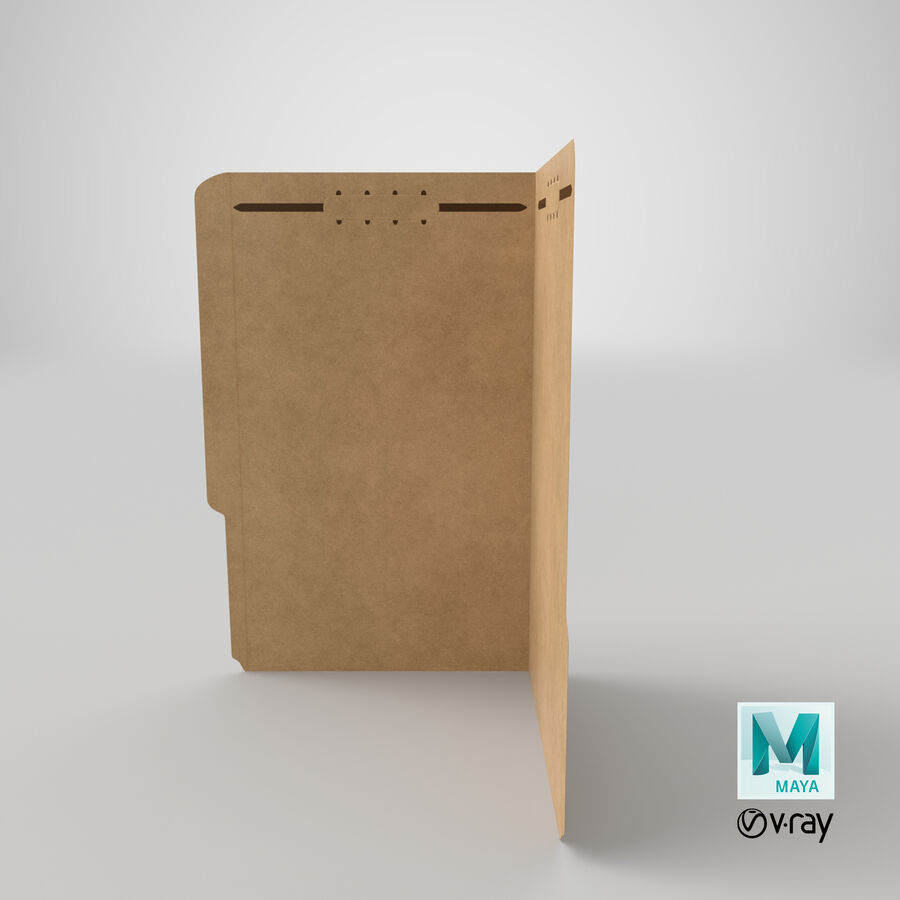 Legal Folder 02 Open royalty-free 3d model - Preview no. 20
