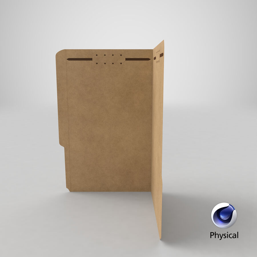 Legal Folder 02 Open royalty-free 3d model - Preview no. 24