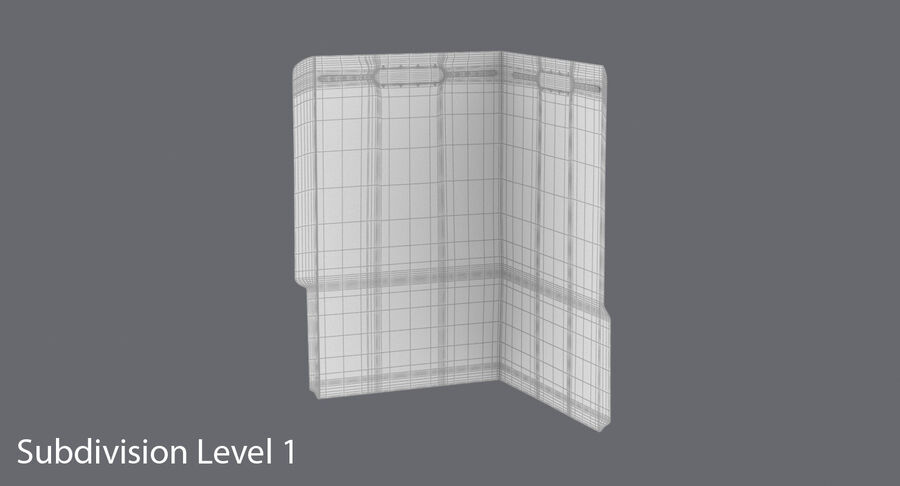 Legal Folder 02 Open royalty-free 3d model - Preview no. 16
