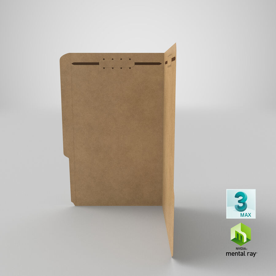Legal Folder 02 Open royalty-free 3d model - Preview no. 23