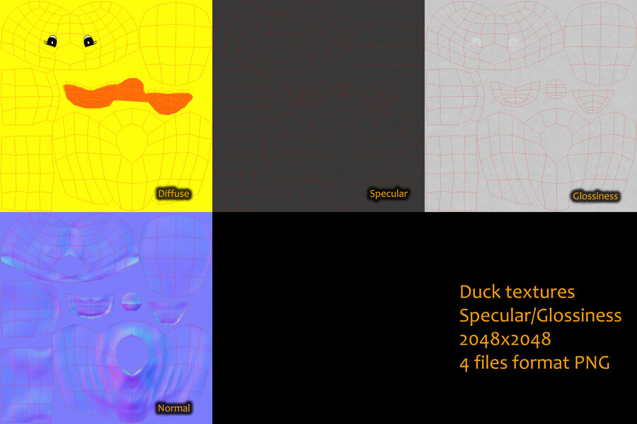 Duck royalty-free 3d model - Preview no. 14