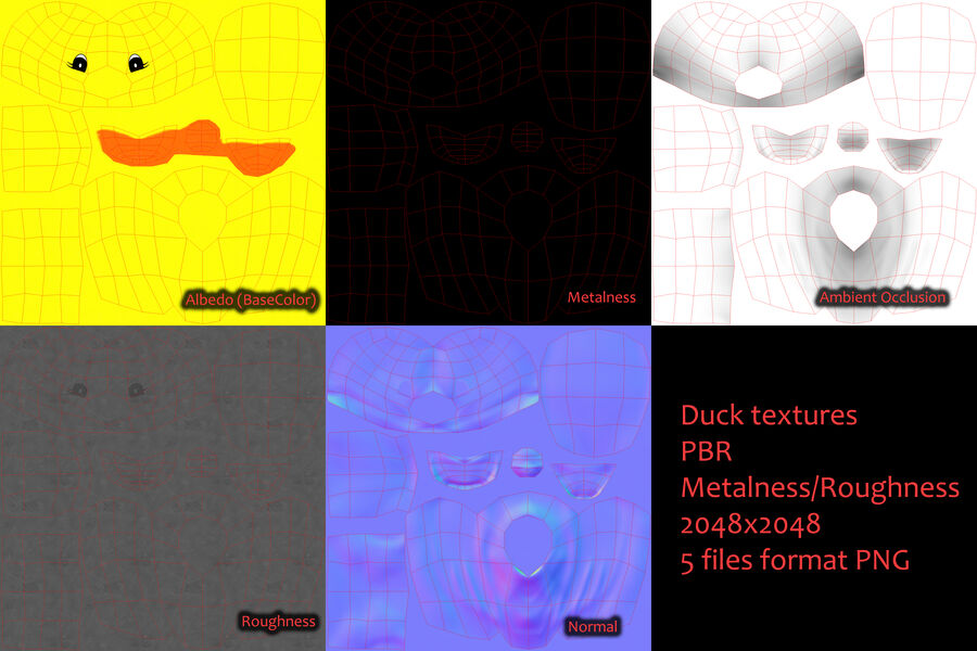 Duck royalty-free 3d model - Preview no. 15