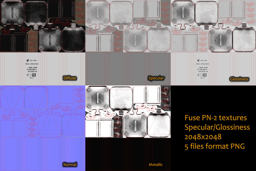 Fuse PN-2 royalty-free 3d model - Preview no. 16