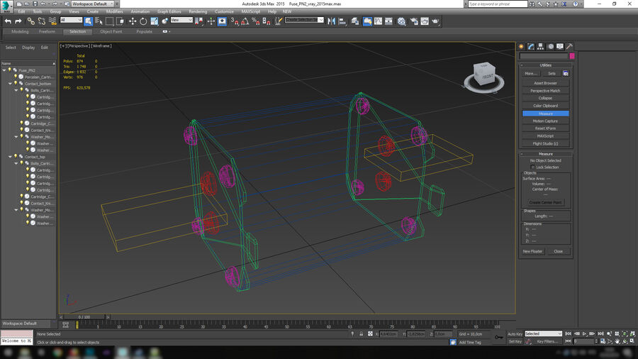 Fuse PN-2 royalty-free 3d model - Preview no. 20
