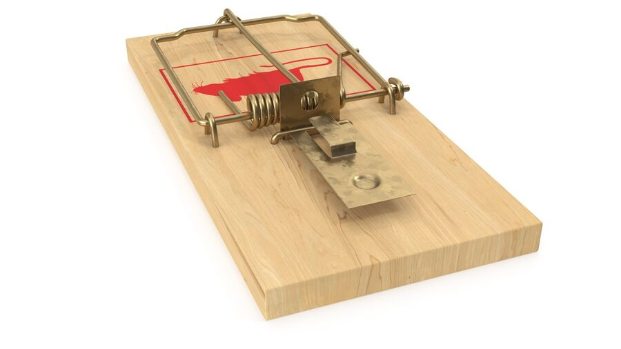 Mouse Trap royalty-free 3d model - Preview no. 12