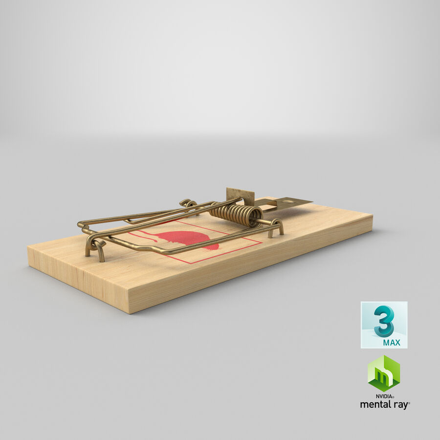 Mouse Trap royalty-free 3d model - Preview no. 21