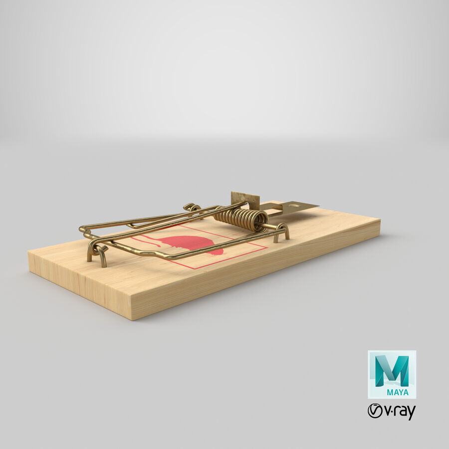 Mouse Trap royalty-free 3d model - Preview no. 25