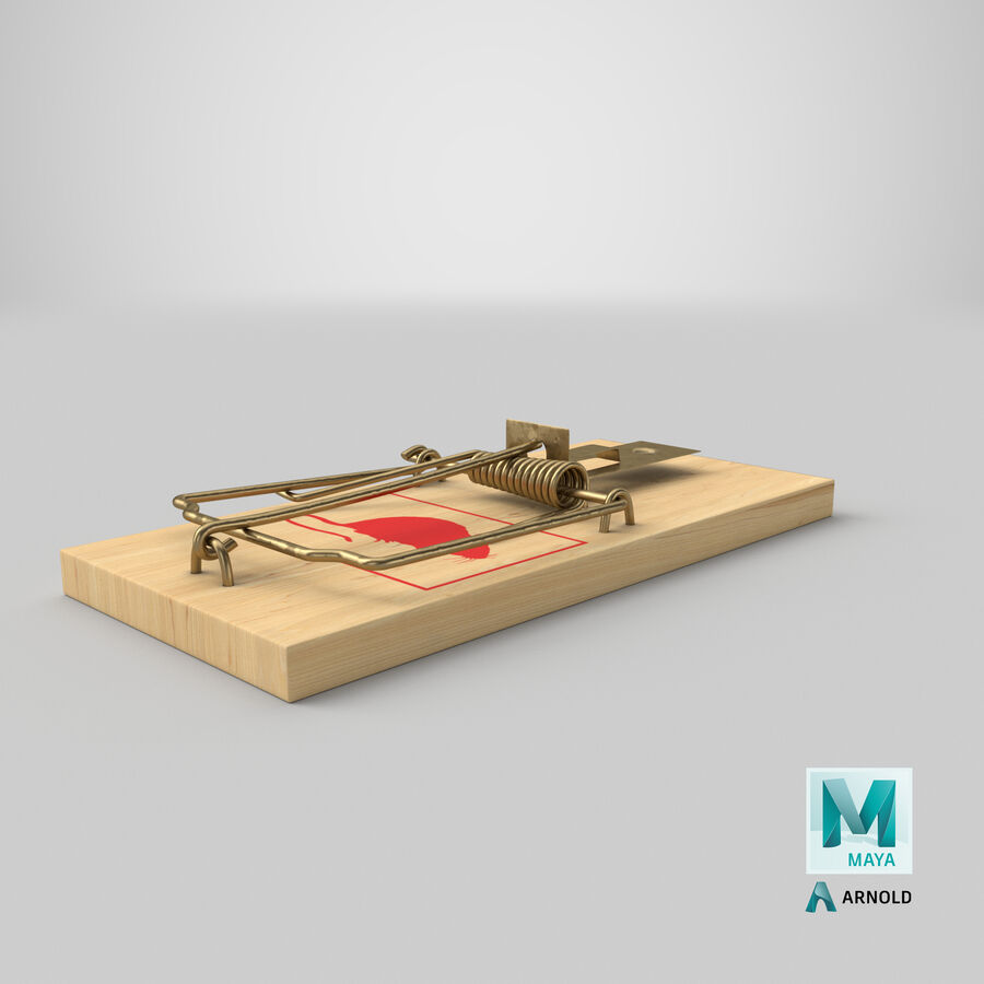 Mouse Trap royalty-free 3d model - Preview no. 23