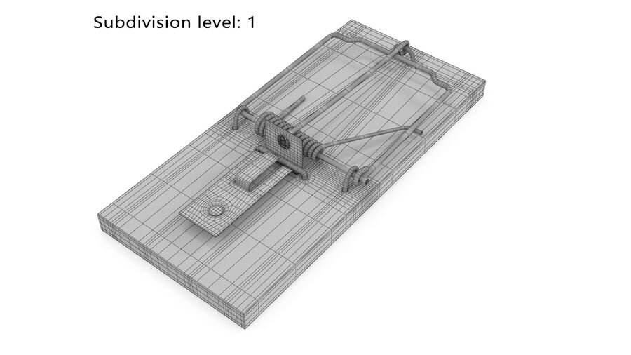Mouse Trap royalty-free 3d model - Preview no. 7