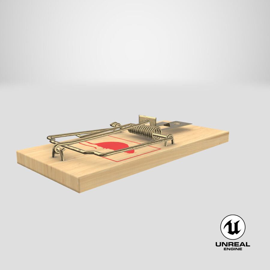 Mouse Trap royalty-free 3d model - Preview no. 19