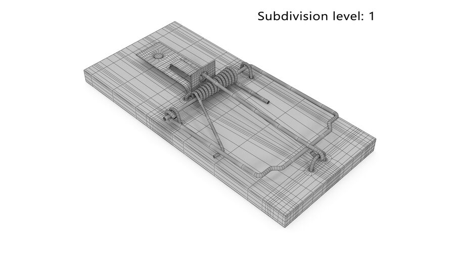 Mouse Trap royalty-free 3d model - Preview no. 5
