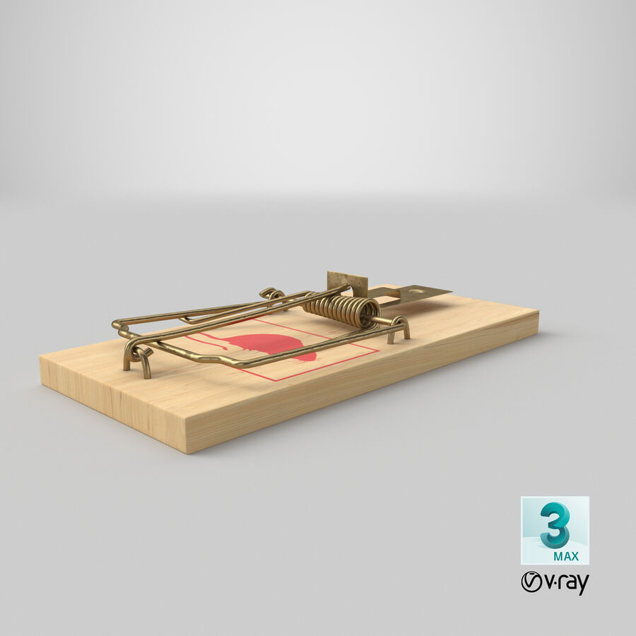 Mouse Trap royalty-free 3d model - Preview no. 22
