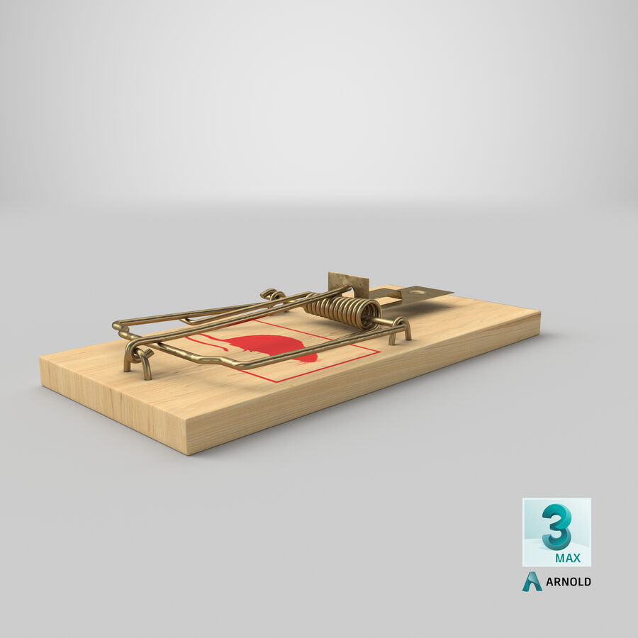 Mouse Trap royalty-free 3d model - Preview no. 20