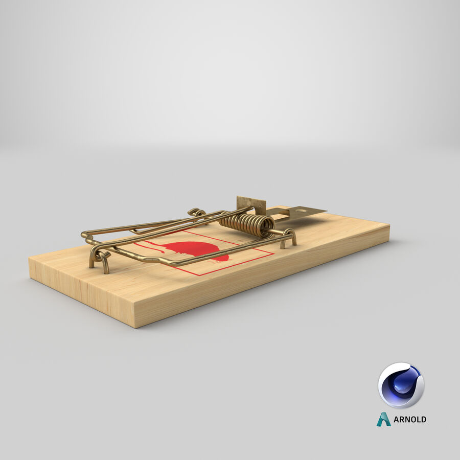 Mouse Trap royalty-free 3d model - Preview no. 17