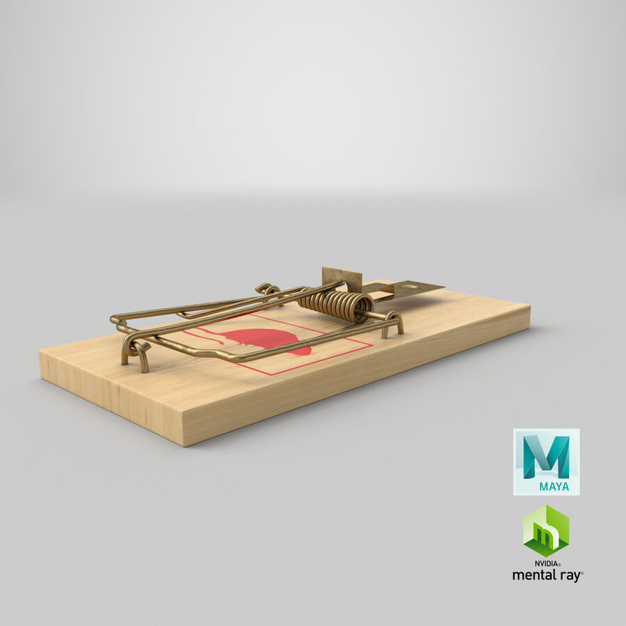 Mouse Trap royalty-free 3d model - Preview no. 24