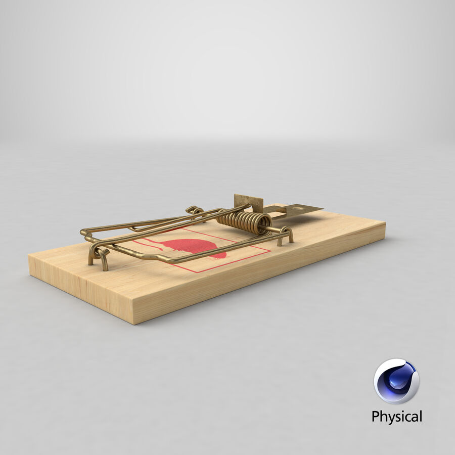 Mouse Trap royalty-free 3d model - Preview no. 16