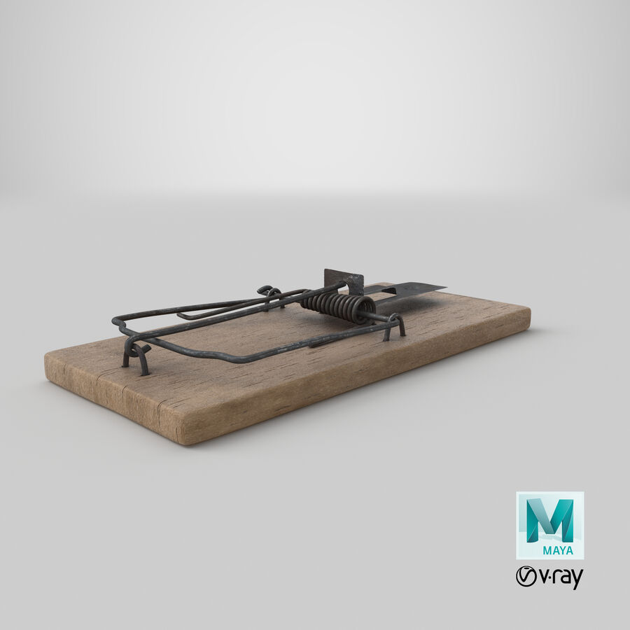 Mouse Trap Aged royalty-free 3d model - Preview no. 23