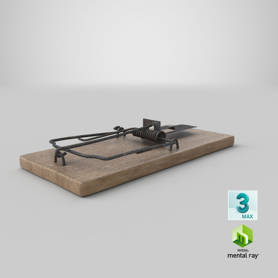 Mouse Trap Aged royalty-free 3d model - Preview no. 19