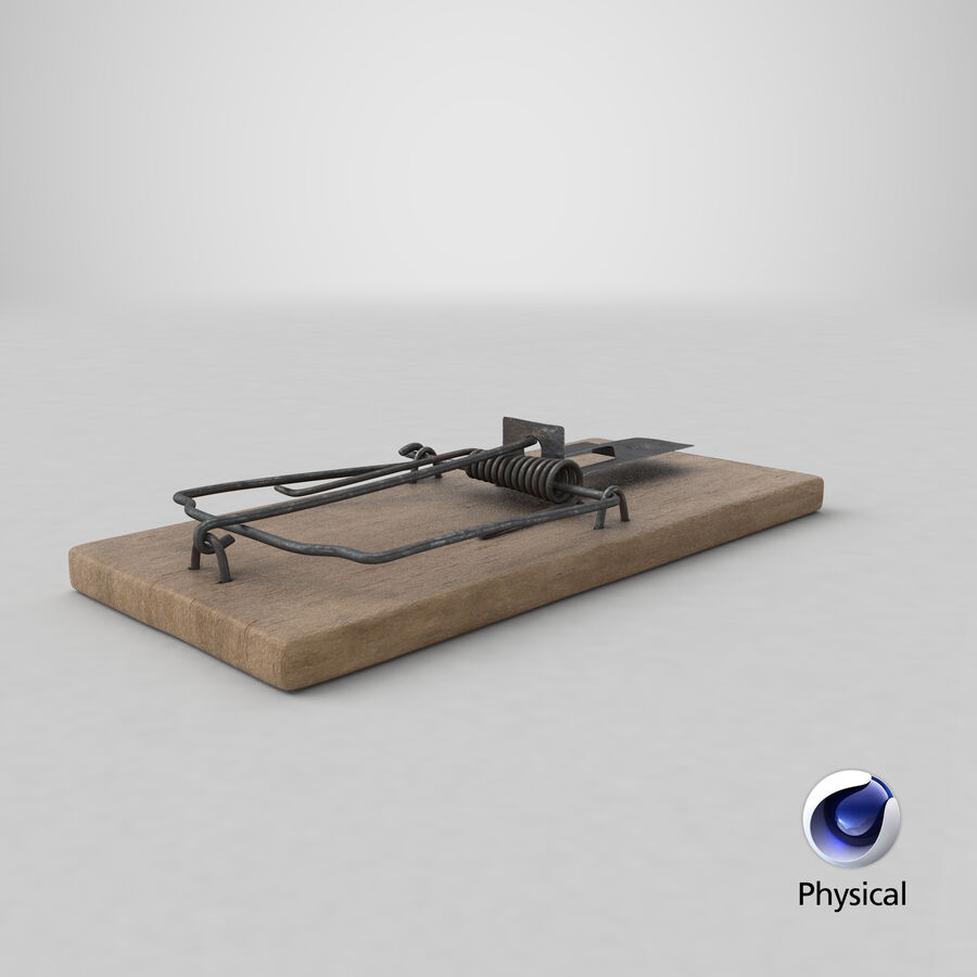 Mouse Trap Aged royalty-free 3d model - Preview no. 14