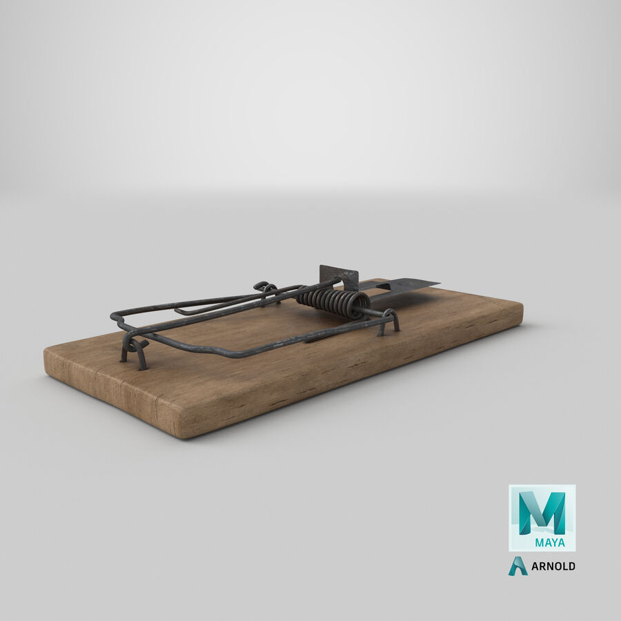 Mouse Trap Aged royalty-free 3d model - Preview no. 21