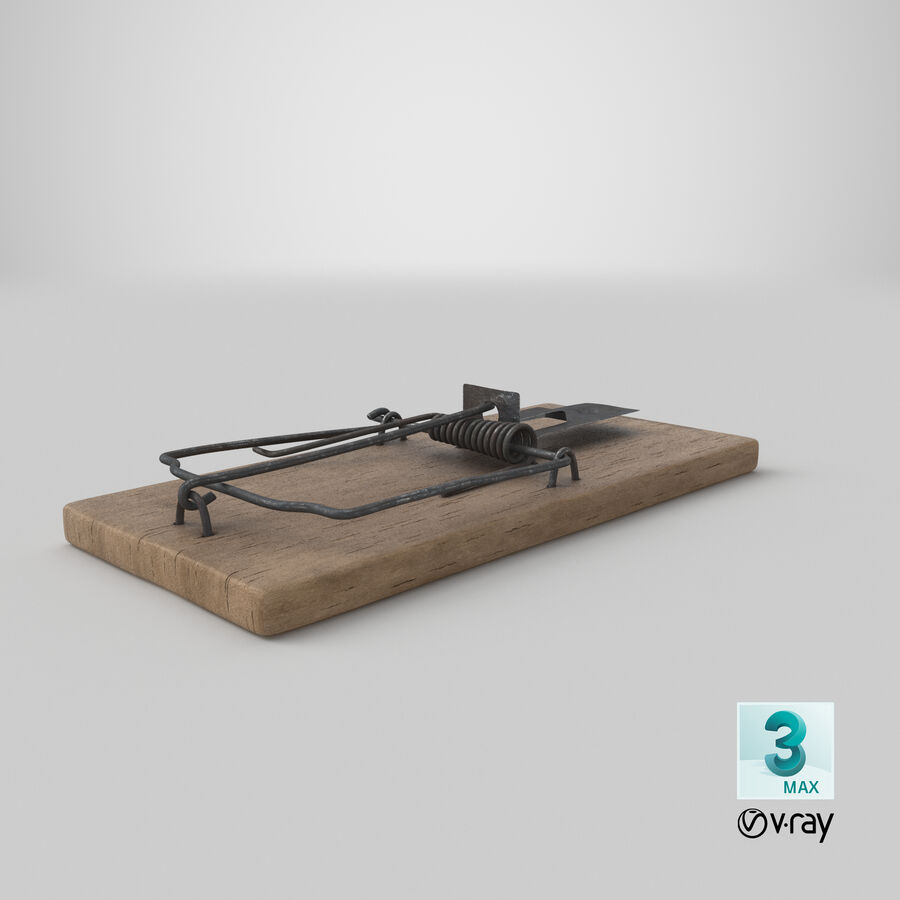 Mouse Trap Aged royalty-free 3d model - Preview no. 20
