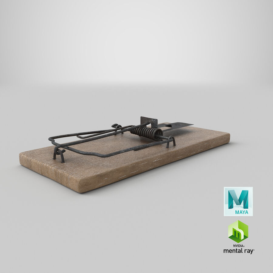 Mouse Trap Aged royalty-free 3d model - Preview no. 22