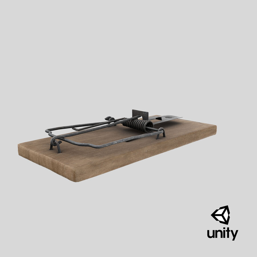 Mouse Trap Aged royalty-free 3d model - Preview no. 16