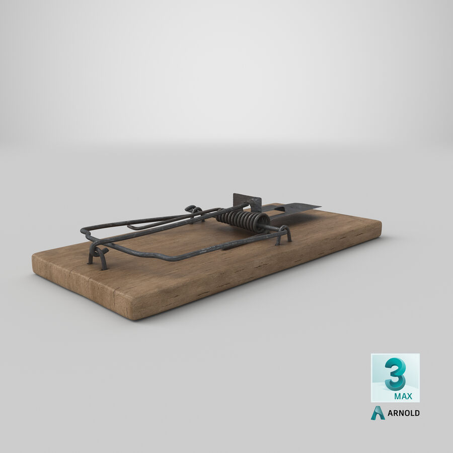 Mouse Trap Aged royalty-free 3d model - Preview no. 18